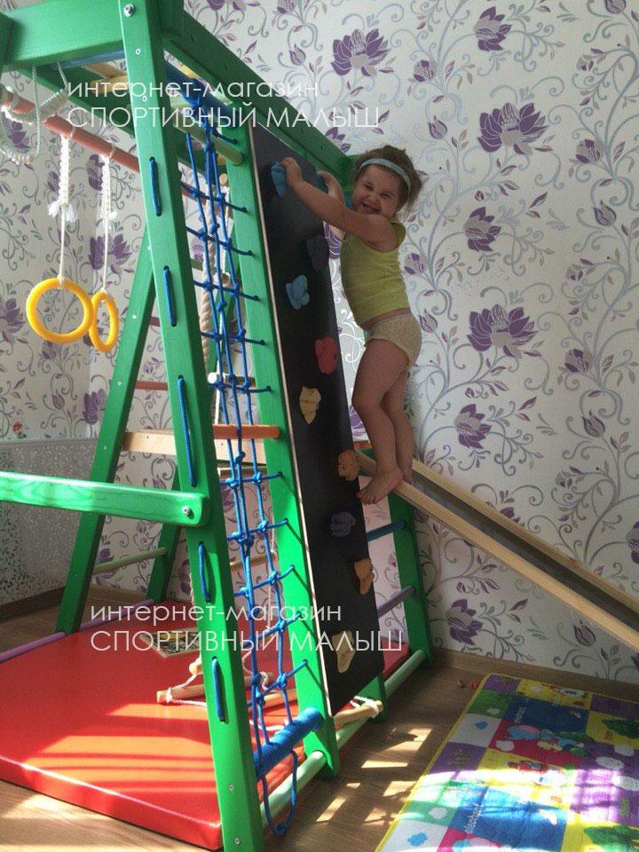 Фото-отзыв покупательницы магазина Спортивный Малыш dsk-detki.ru о детском домашнем комплексе Альпинист