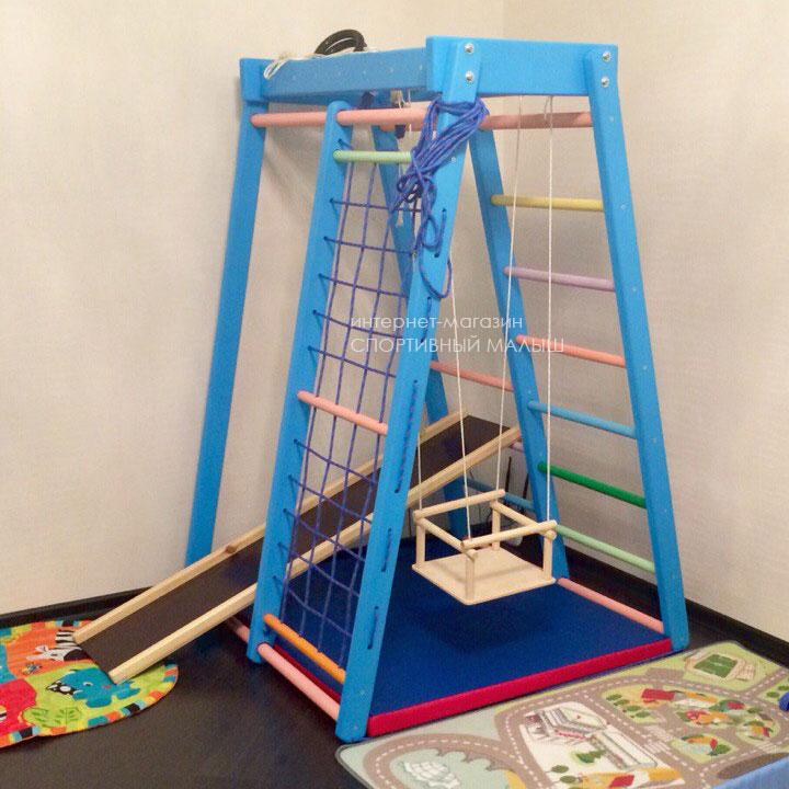 Компактная спортивная площадка для малыша в городской квартире. Детский спорткомплекс Теремок. Отзывы родителей