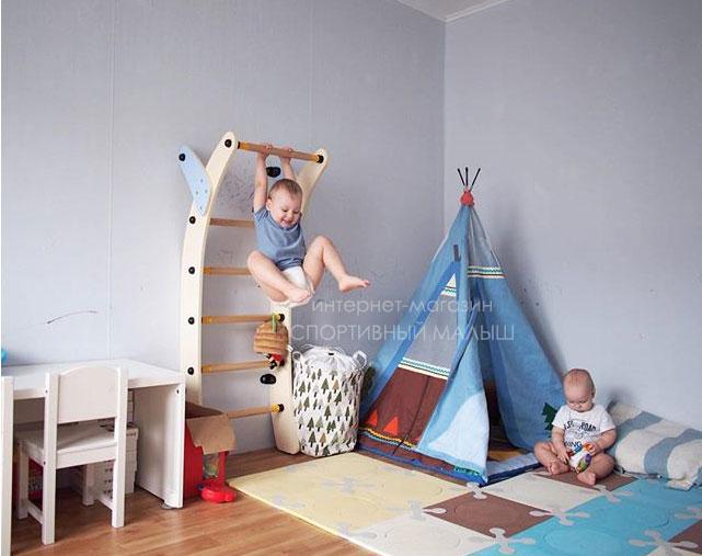 Фото-отзыв от мамы. Детская шведская стенка в квартиру - Маленькая Луна Romana