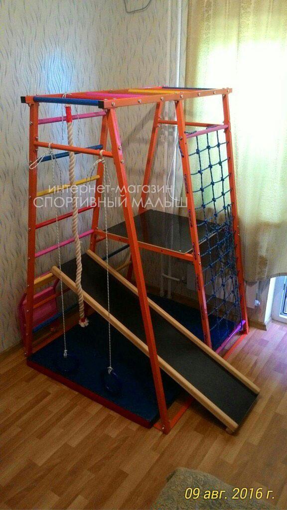 Спортивный комплекс детский дск теремок для дома и дачи из металла для установки дома и на даче модель с пиратской площадкой