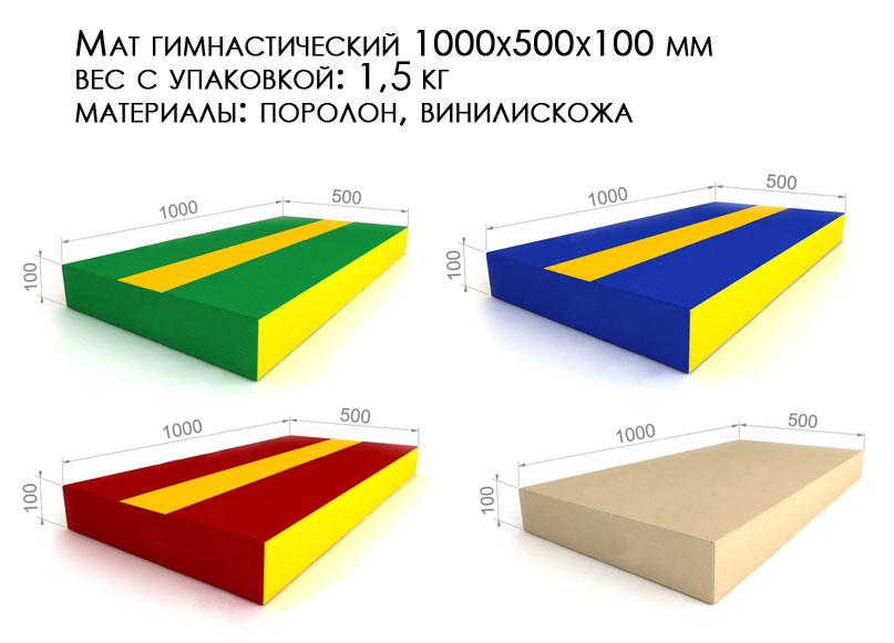 Детский гимнастический мат от производителя купить размеры, выбор цвета: зеленый бежевый красный, синий