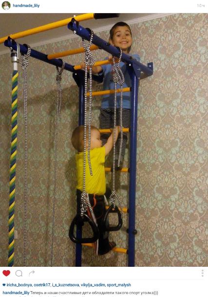 Фото-отчет о металлической шведской стенки для детской комнаты, подходящей для всей семьи Romana Карусель 1