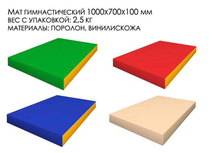 Гимнастический мат толщиной 10 см серии романа