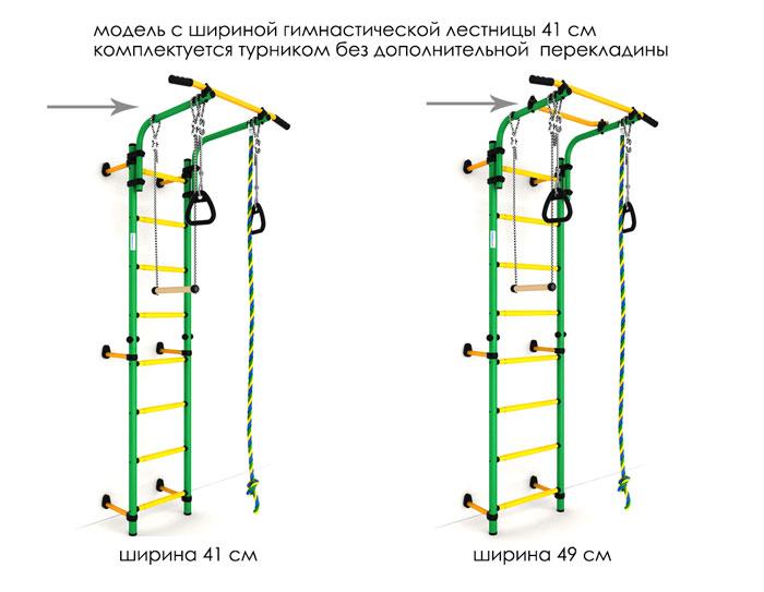 отличие модели карусель next 1 шириной 41 см и 49 см