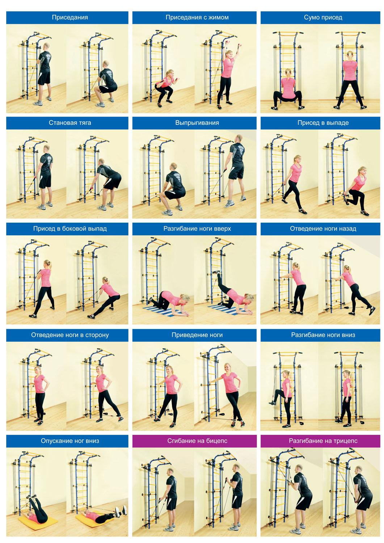 Тренажер-эспандер для гимнастических шведских стенок Romana