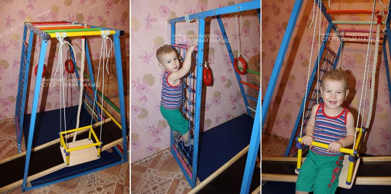 Домашний спортивный комплекс в металлическом корпусе - Теремок ДСК