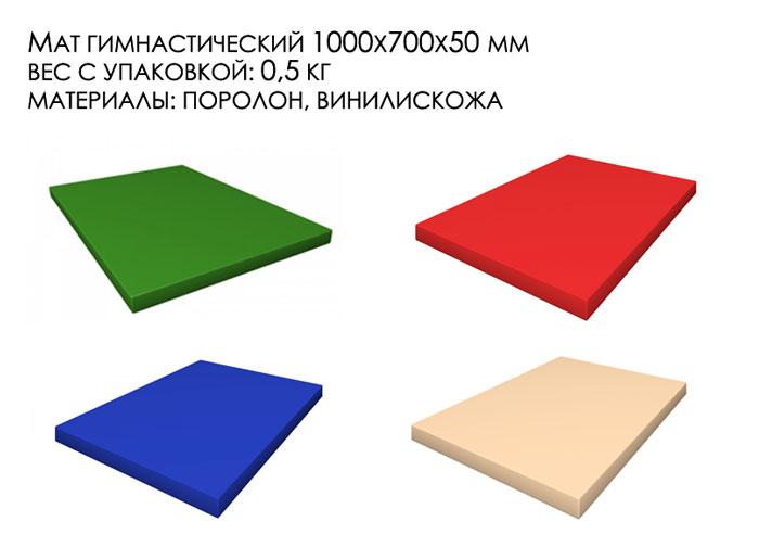 Гимнастический мат толщиной 5 см сертифицированный, Гост